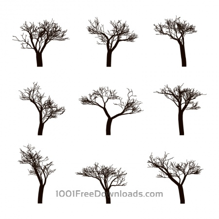Free Dead trees Silhouettes