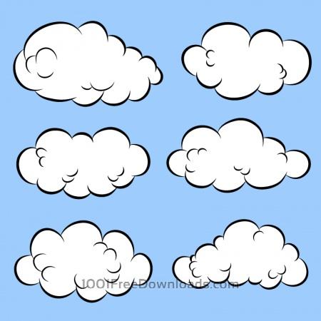 Free Comic Book Clouds
