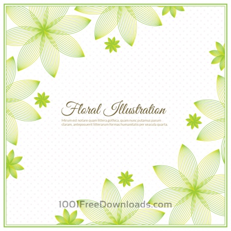 Free Floral background illustration