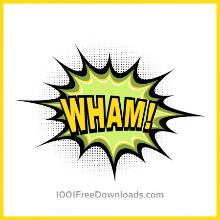 Free Comic book explosion, wham