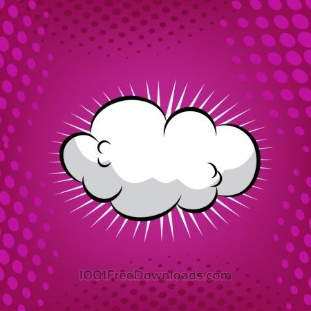 Free Comic Book Cloud Background