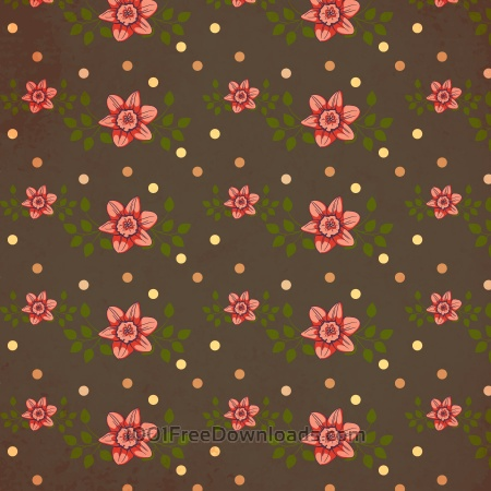 Free Vintage pattern with flowers