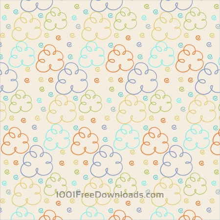 Free Cute pattern with clouds