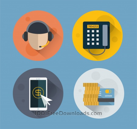 Free Objects for e-commerce design. Vector illustration