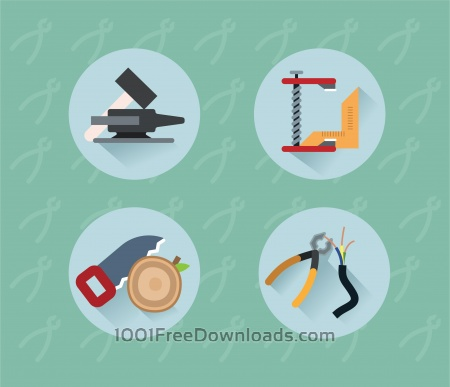 Free Tools objects for design. Vector illustration