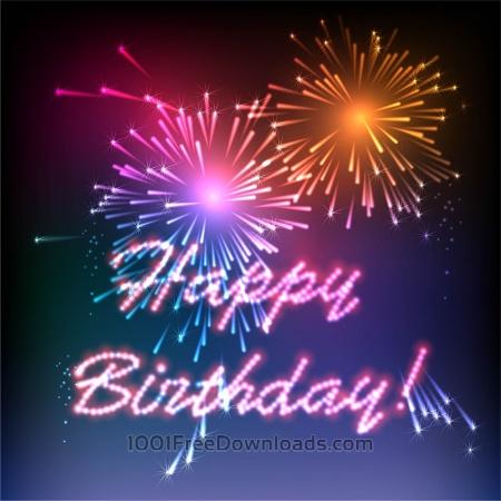 Free Happy Birthday fireworks