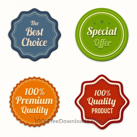 Free Badges vector collection