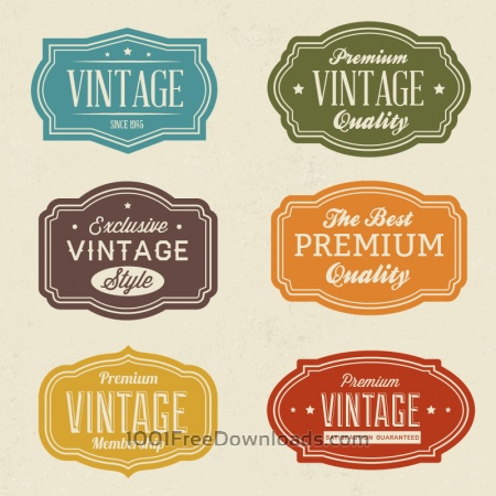 Free Vintage labels set