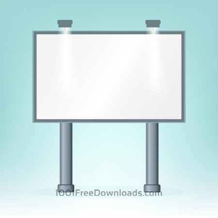 Free Blank billboard, on blue bacground, design