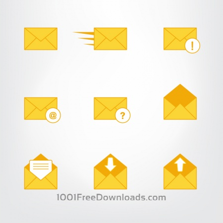Letter, mail symbols and pictograms