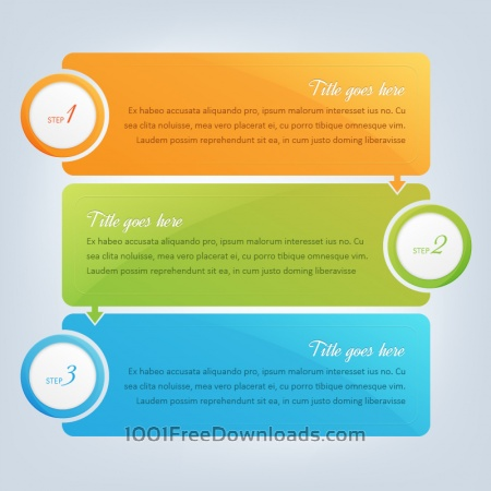 Free Banners, infographic steps design