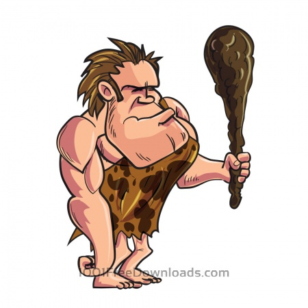 Free Cave man character