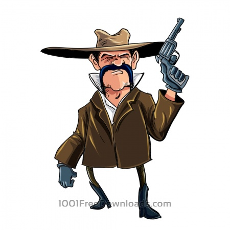 Free Cowboy with gun