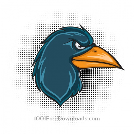 Free Cartoon vector raven