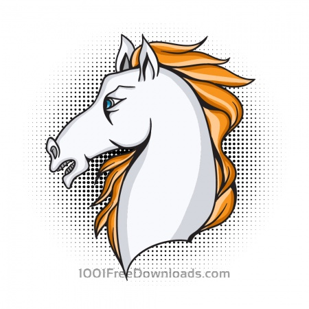 Free Cartoon vector horse