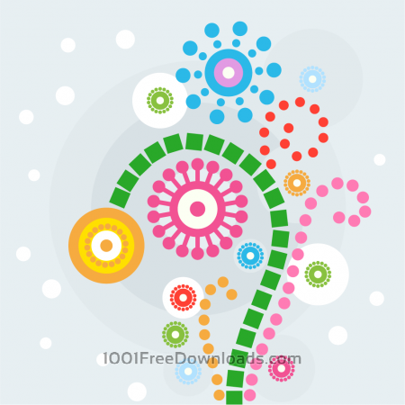 Free Colorful flowers Illustration