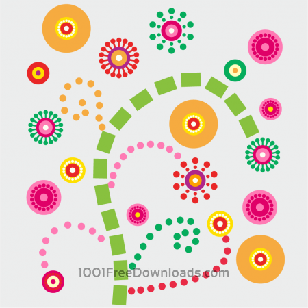 Free Colorful floral composition