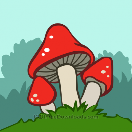 Free Mushrooms vector illustrations