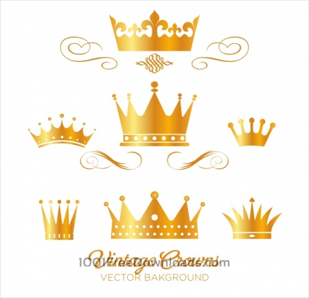 Free Set of gold king crowns