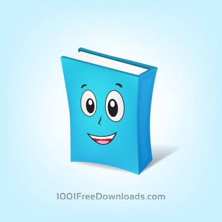 Free Book Cartoon Character