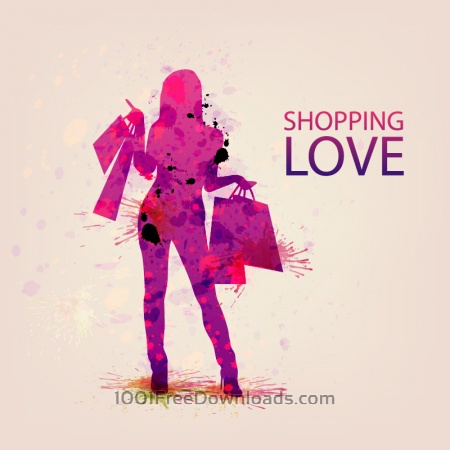 Free Shopping Vector Illustration