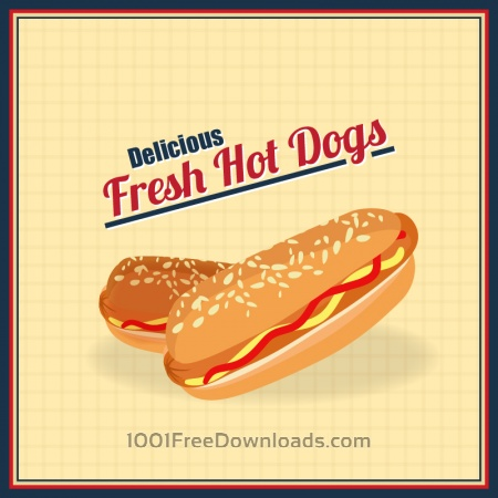 Free Hot Dogs Illustration