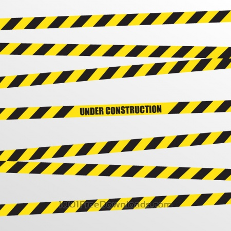 Free Under Construction Vector Background