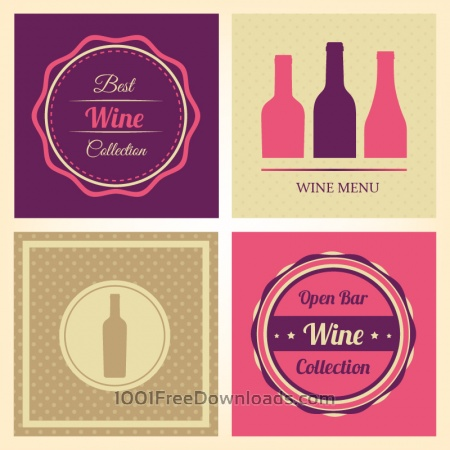 Free Vector Wine Labels