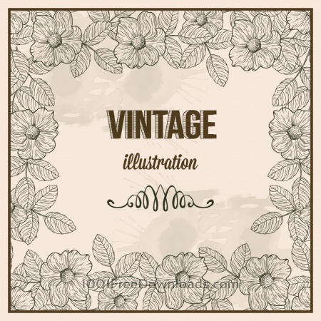Free Vintage frame with  typography