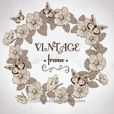Free Vintage floral frame