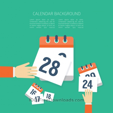 Free Vector Calendar Background