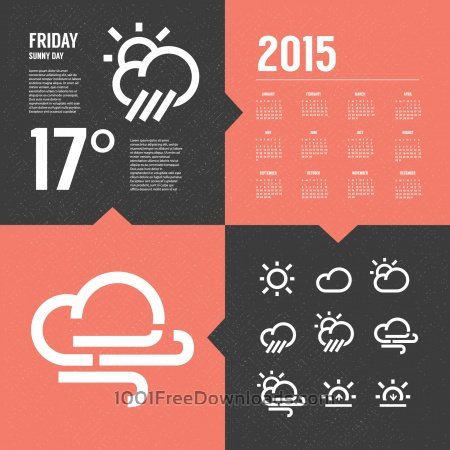 Free Weather Background with Icon set