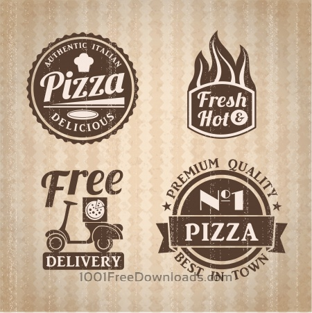 Free Pizza labels collection.