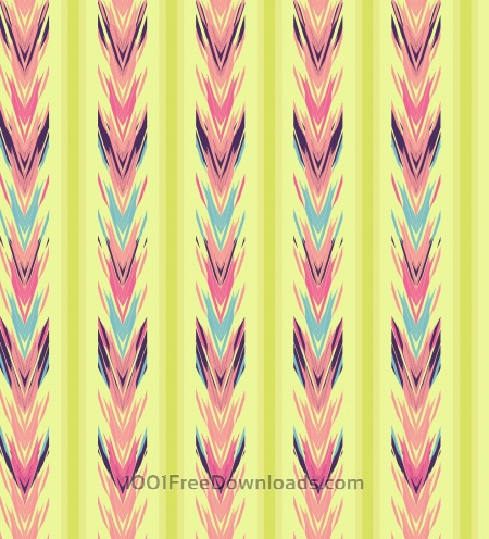 Free Ethnic seamless striped pattern