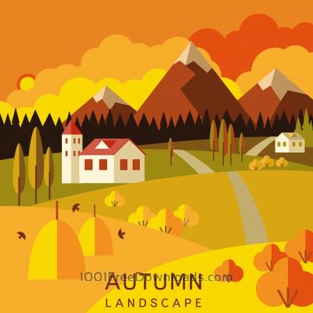 Free Autumn landscape