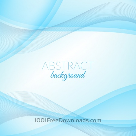 Free Abstract blue wave background