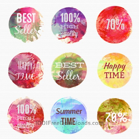 Free Watercolor labels