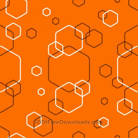 Free Orange Abstract Hexagonal Pattern