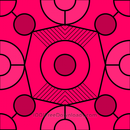 Free Geometric Fuchsia Pattern