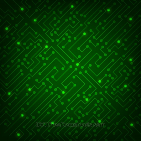 Free High tech abstract green background