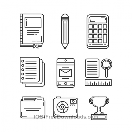 Free Education and Research Icon Pack