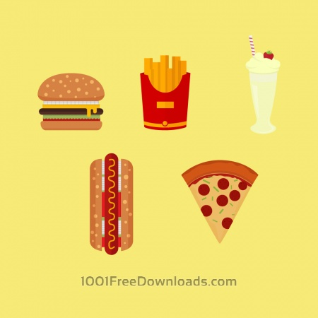 Free American Fast Food Icons