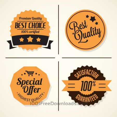 Free Set of retro vintage badges and labels