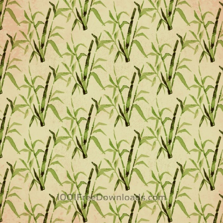 Free Vintage japanese pattern with bamboo