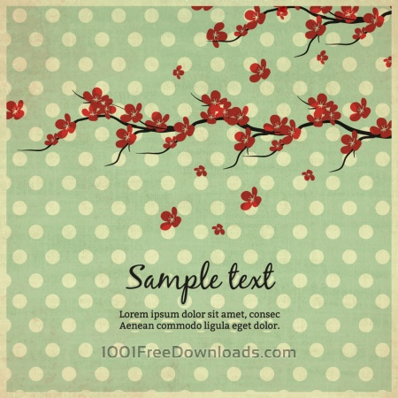 Free Vintage illustration with flowers