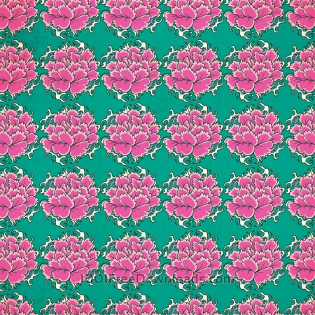 Free Vintage japanese pattern with flowers