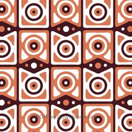 Free Retro Maroon, Orange, and White Pattern