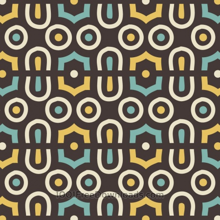 Free Retro Yellow and Blue Abstract Pattern