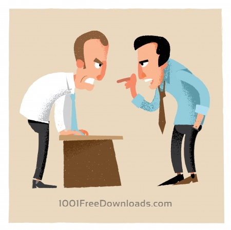 Free Business man characters. Vector illustration