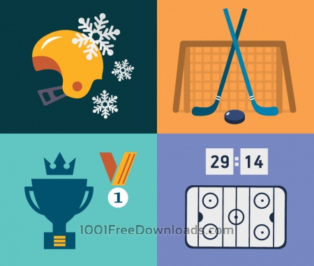 Free Sport objects for design. Vector illustrations.